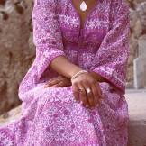 Robe Bohème doublure en coton
