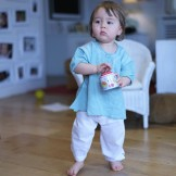 pantalon bébé fille blanc