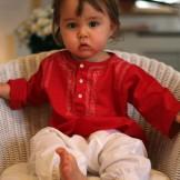 vetement bebe original rouge