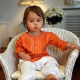 vetement bebe original orange