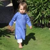 Tunique bébé fille indigo