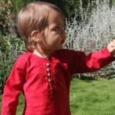 Tunique bébé rouge