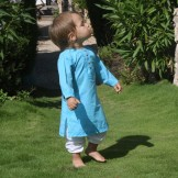vetement bebe ethnique bleu