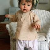 Tunique bébé fille beige