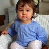 Tunique bébé garçon bleu