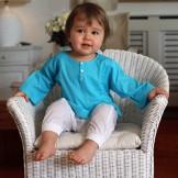 Tunique bébé garçon turquoise
