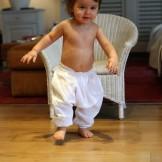 Sarouel bébé blanc