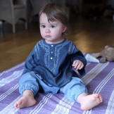 pantalon bébé fille bleu