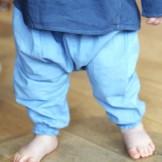 Sarouel bébé turquoise