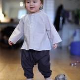 pantalon bébé fille marron