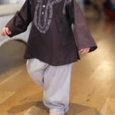 Pantalon bébé coton beige