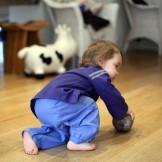 pantalon bébé fille indigo