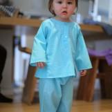 pantalon bébé fille turquoise