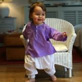 vetement bebe ethnique violet