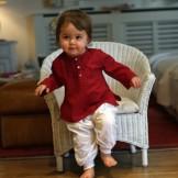 vetement bebe ethnique marsala