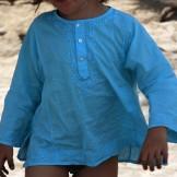 Tunique garçon turquoise