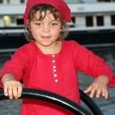 Tunique enfant brodée longue framboise