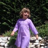 tunique longue violette