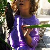 tunique violette enfant