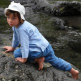 Tunique enfant bleu