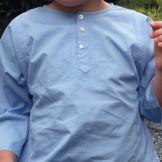 Tunique coton enfant bleu lavande