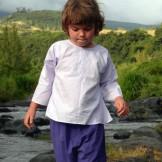 Tunique enfant lavande