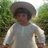 Tunique coton enfant vanille