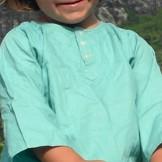 Tunique coton enfant vert turquoise