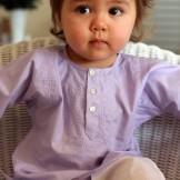 Tunique bébé fille lavande