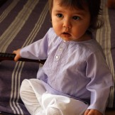 tunique bébé violet