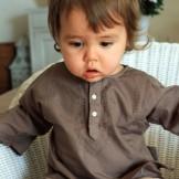 Tunique bébé garçon marron