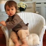 Tunique bébé marron