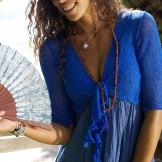Bolero robe bleu indigo