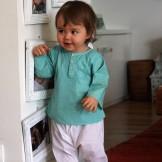 Tunique bébé fille turquoise vert