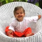 Sarouel bébé orange