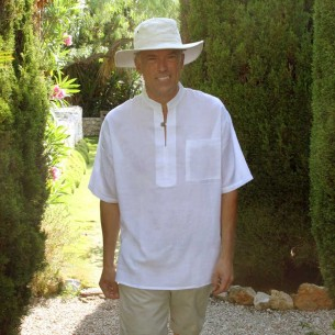 Tunique col mao avec poche