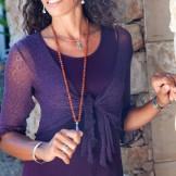 Robe longue sport femme aubergine