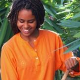 Tunique Indienne Ado orange