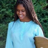 Tunique Indienne Ado Turquoise
