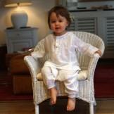Tunique bébé fille blanche