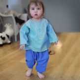 Sarouel bébé garçon indigo