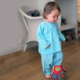 vetement bebe ethnique turquoise