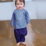 pantalon bébé fille bleu foncé