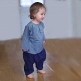 Sarouel bébé fille bleu foncé