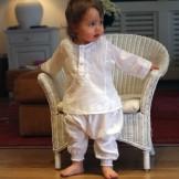 Tunique bébé fille blanc