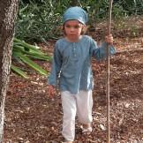 Pantalon enfant coton blanc