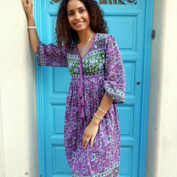 Hippy dress Formentera - LONG BOHEMIAN DRESSES - Tortue de Mer