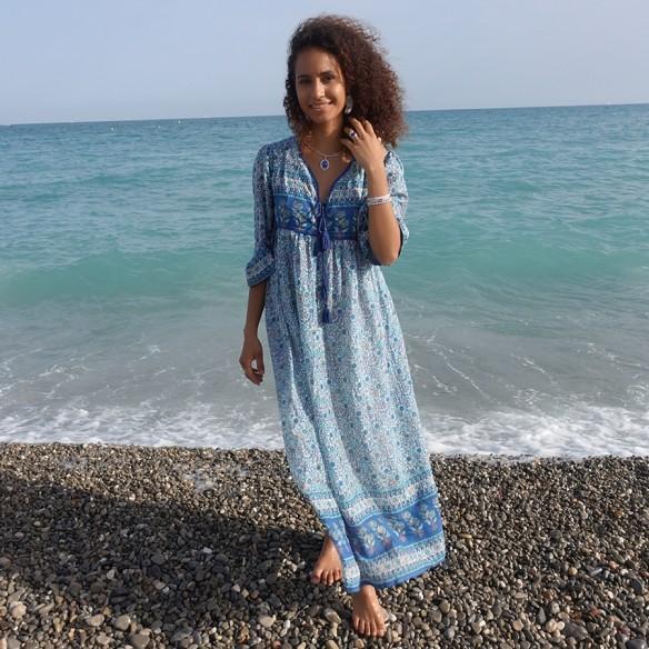 Bohemian dress Capri - WOMEN - Tortue de Mer