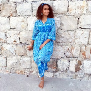 Hippy dress Goa - LONG BOHEMIAN DRESSES - Tortue de Mer