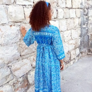 Robe Hippie chic ajustable au dos